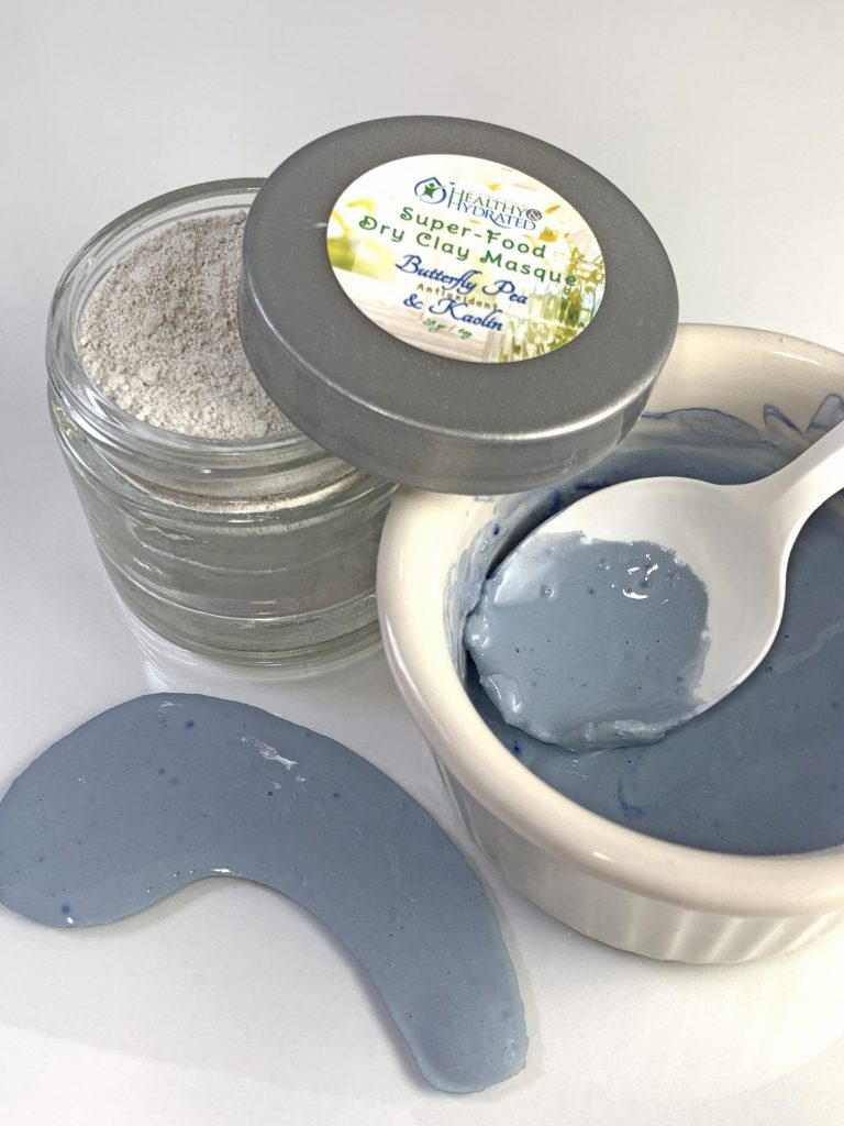 butterfly pea clay masks