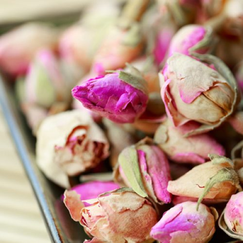 bath tea rosebud
